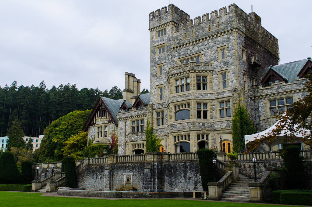 Hatley Castle National Historic Site Victoria BC - Garden Side